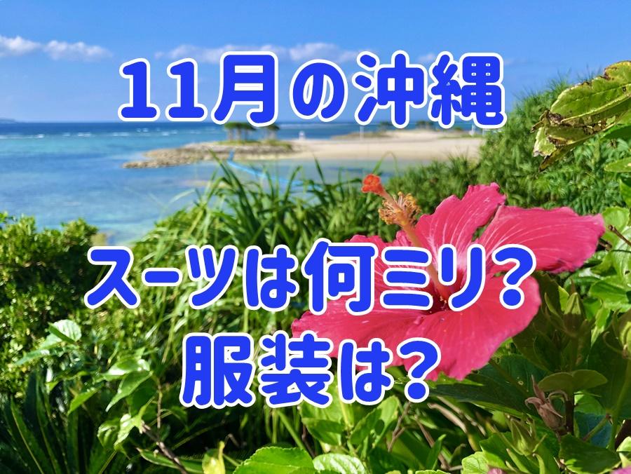 11月の沖縄
